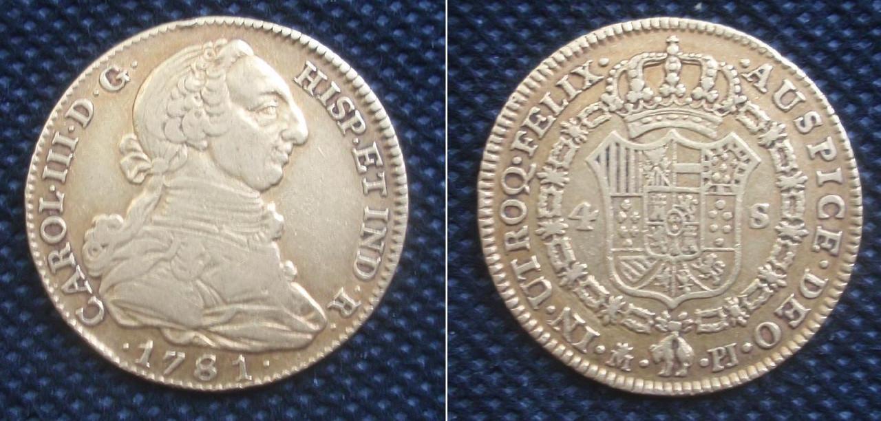 4 Escudos 1781. Carlos III. Madrid. Entrevista al Marqués de la Ensenada 0_4esc_1781_madrid