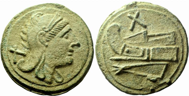 Denominación de monedas en la antigua Roma: La República. 0_0decussis
