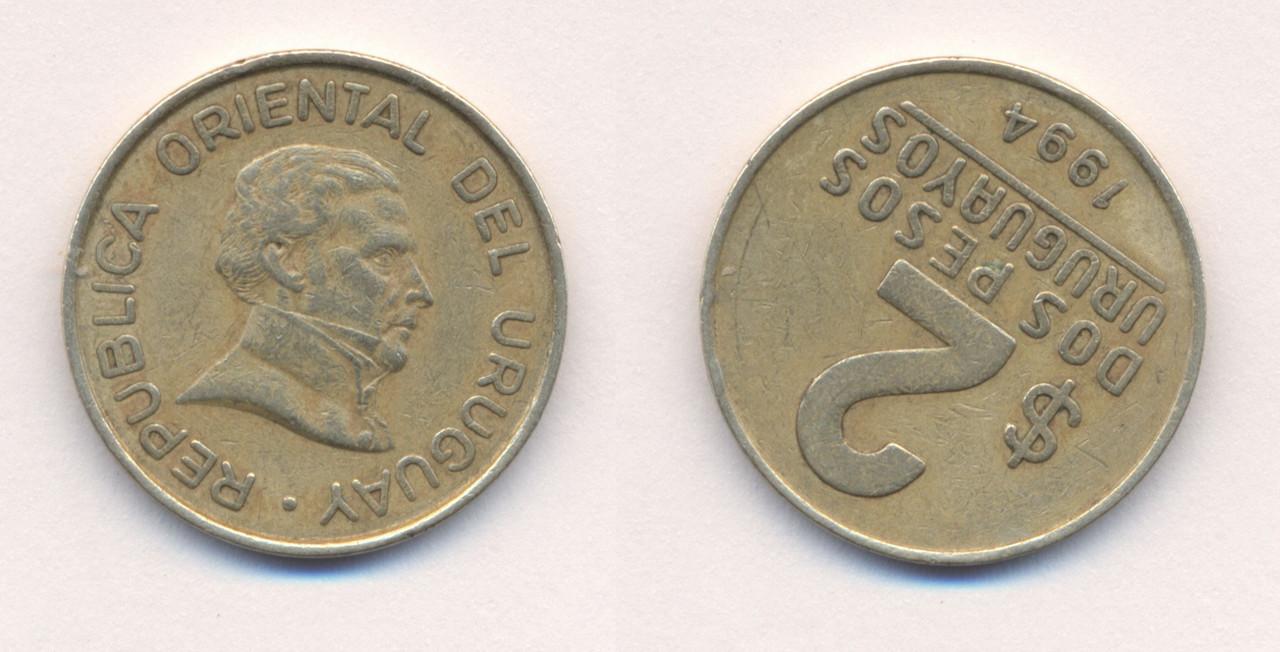 2 Pesos. Uruguay. 1994 Uruguay_2_Pesos_1994