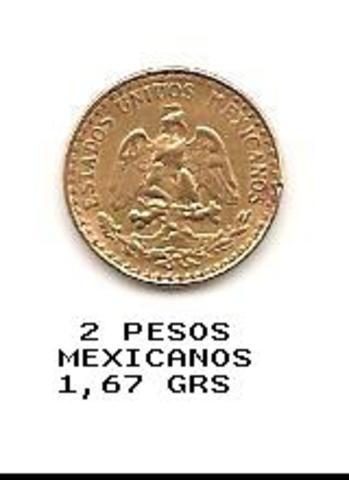 2 Pesos. México. 1945 2_PESOS_MEXICANOS_1