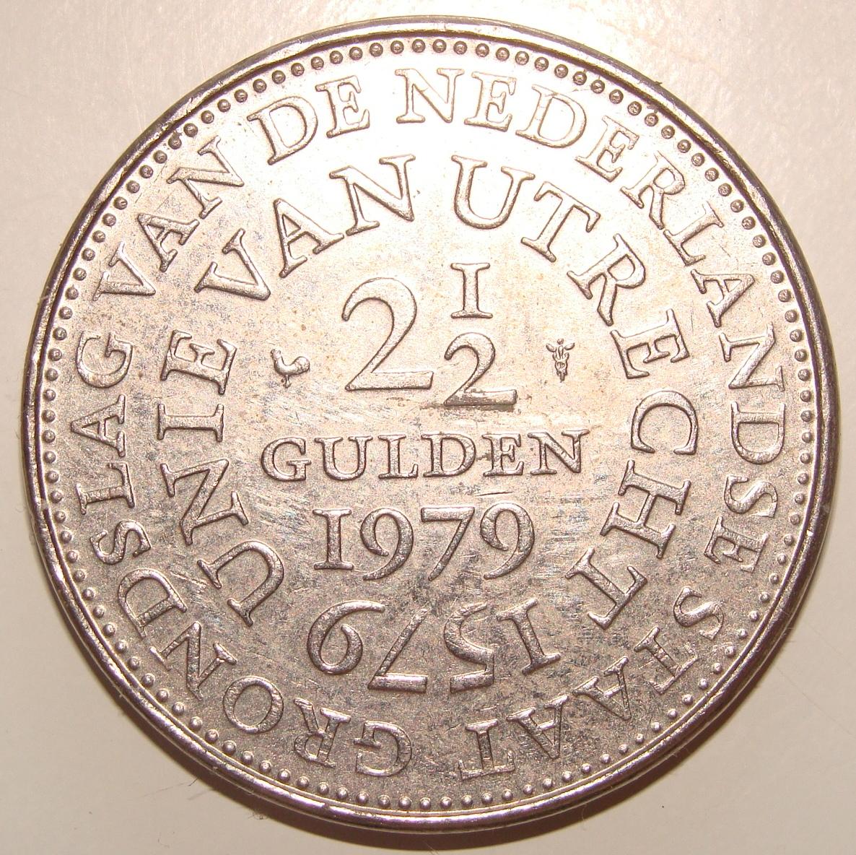2 1/2 Florines. Holanda (1979) Aniversario de la Unión de Utrecht HOL_2_5_Florines_400_aniversario_uni_n_de_Utre