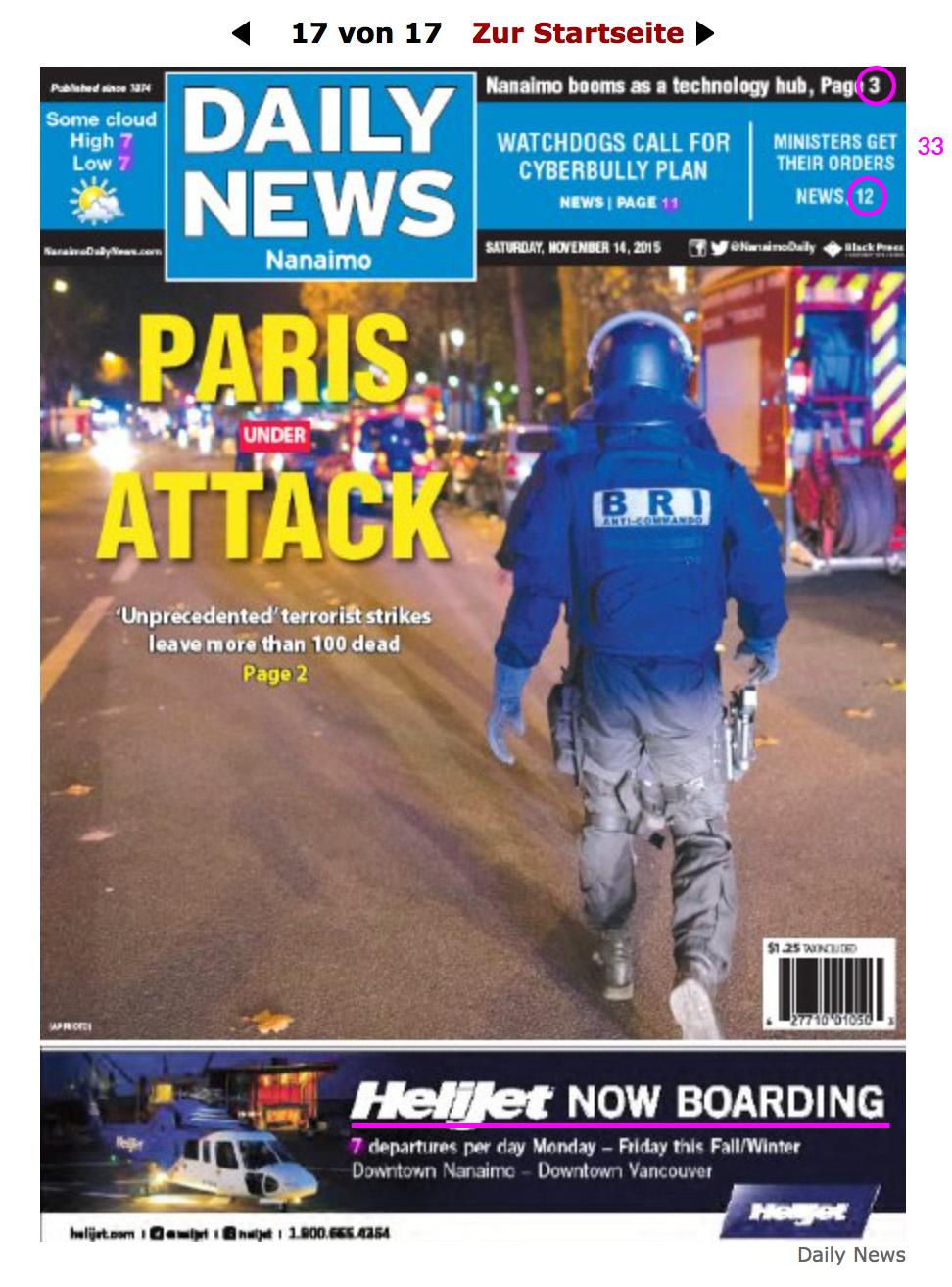 Explosion und Schießerei in Paris! Daily