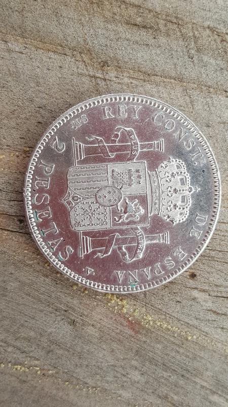 2 pesetas 1905 (*19-05). Alfonso XIII 20180430_150823