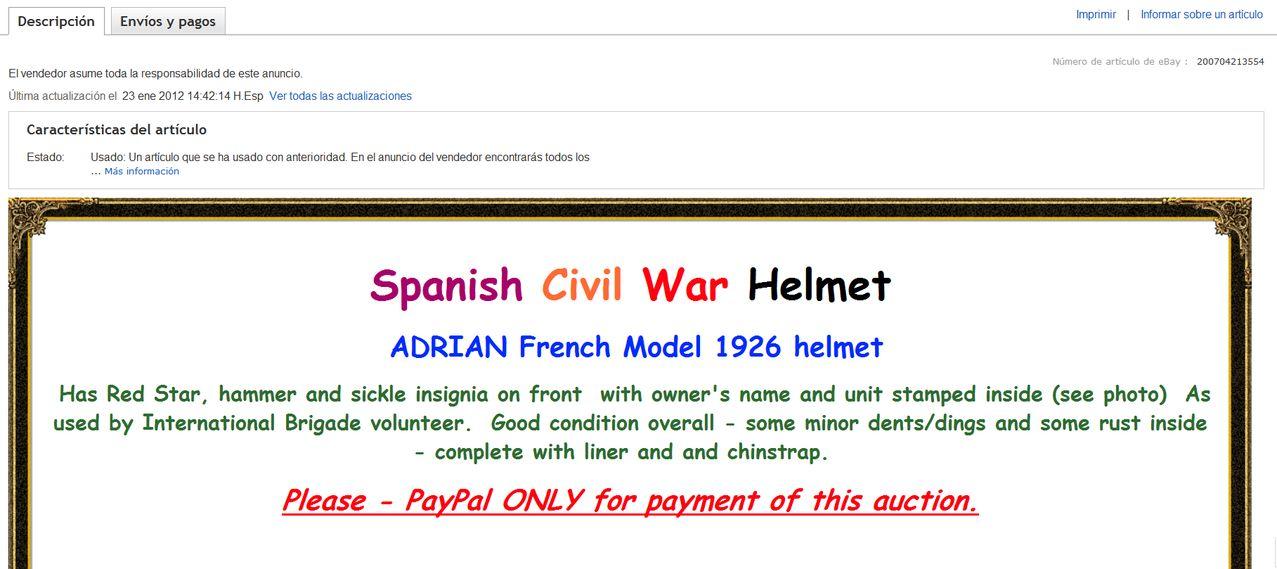 casco - casco adrian frances con estrella de Brigadas Internacionales Screenshot_176