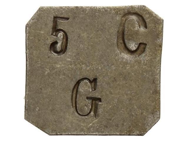 Moneda de 5 Cts. Gratallops rarísima 115585l