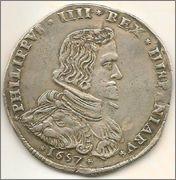 Filippo de 1657. Felipe IV. Milán Moeda2
