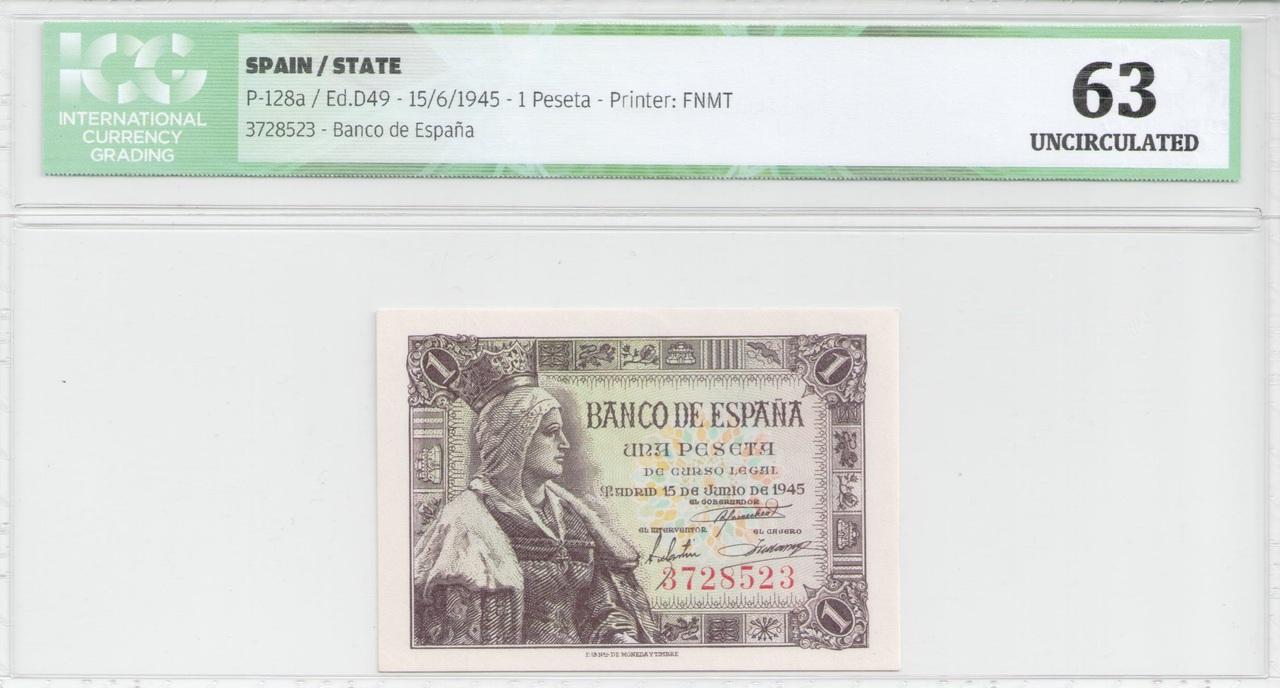 Colección de billetes españoles, sin serie o serie A de Sefcor 45_anverso