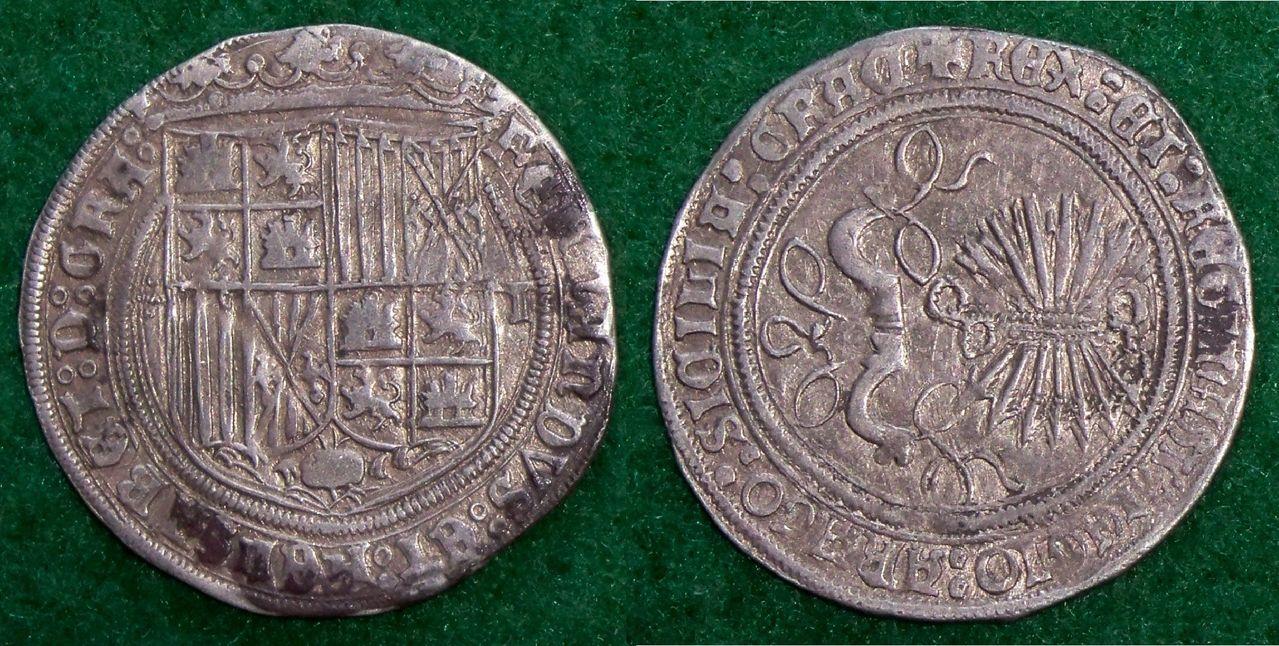 1 Real a nombre de los Reyes Católicos. Toledo. Una moneda para Don Alberto. RRCC