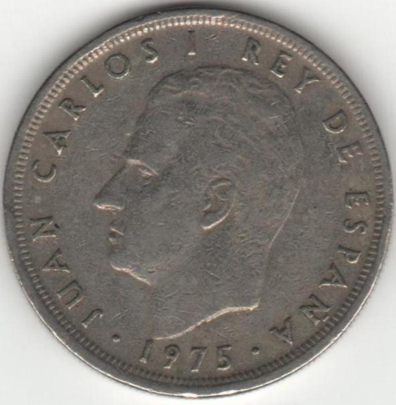 5 Pesetas 1975* 78 Juan Carlos I 5_pesetas_anverso