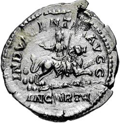 Glosario de monedas romanas. DEA CAELESTIS. Image