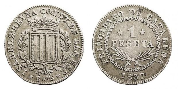 Duda sobre las primeras pesetas y su inscripción contra carlista. Isabel__II_peseta_19524-620x310