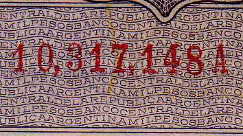 Antiguos Pesos de la Republica Argentina Leyes 12962 (Moneda Nacional) Numeracion_1