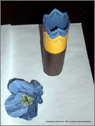 Скрапбукинг. Голубой мак, карандашница или декорваза для сухоцветов. 1_DSCF1965