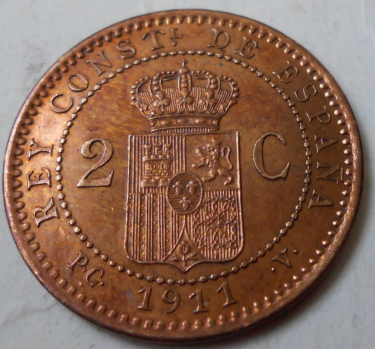 2 centimos Alfonso XIII 1911 *11 11_rev