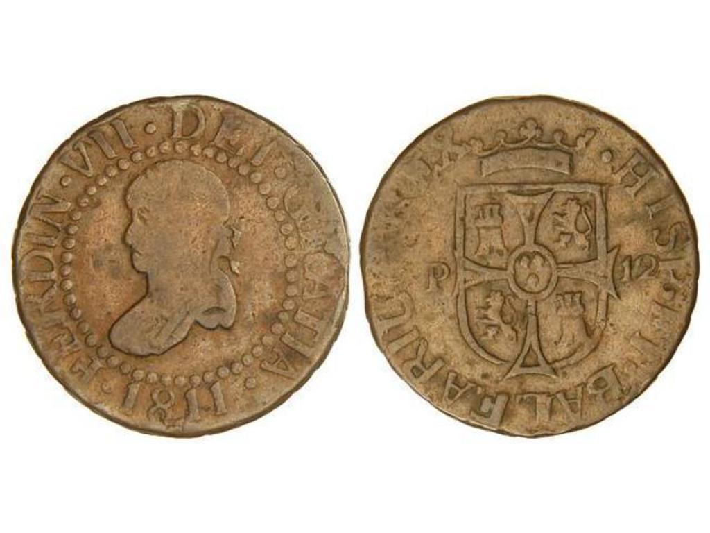 12 dineros 1811. Fernando VII. Palma de Mallorca. 10189245_1