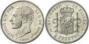 2 pesetas 1884 (*18-84). Alfonso XII 2561701.m