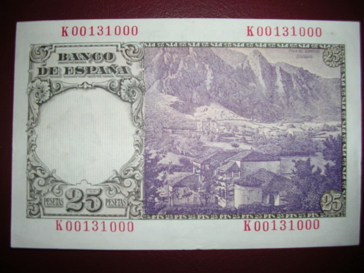 25 Pesetas 1946 (Serie K - Florez Estrada) 25ptas1946skr