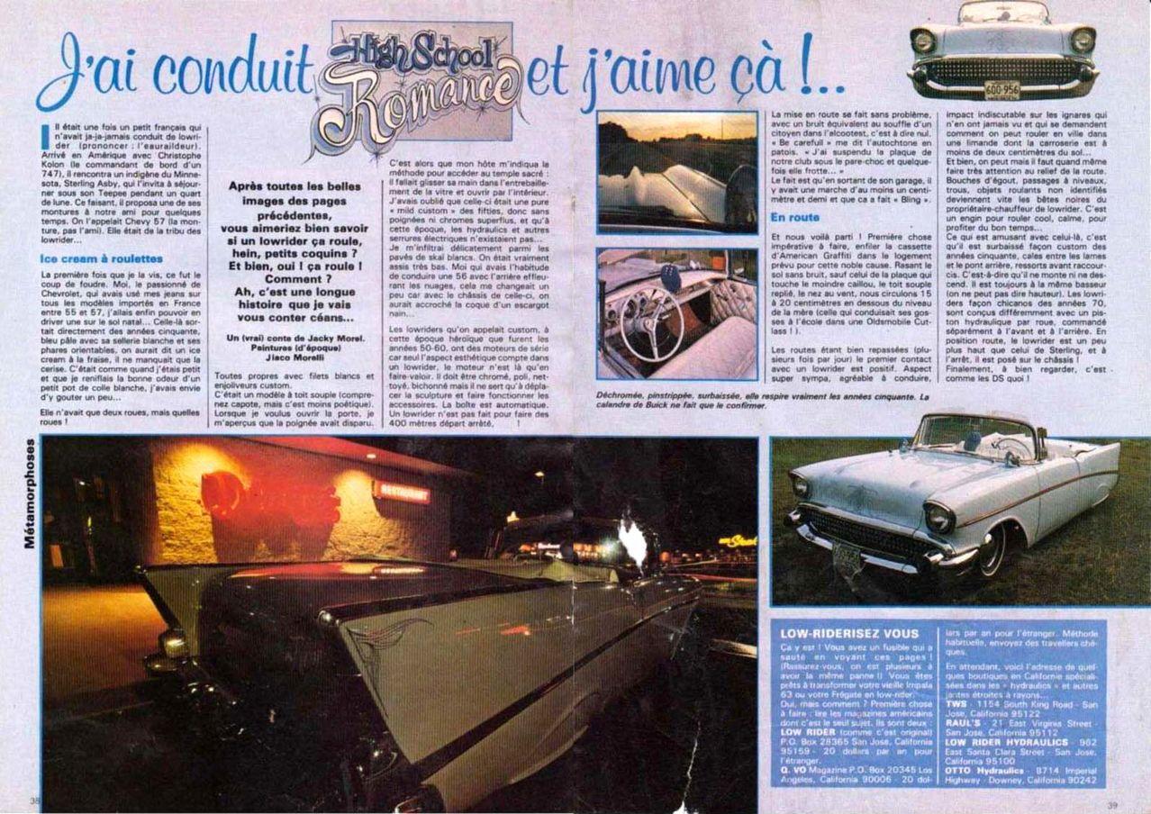 """Article """"Rod et Custom"""" années 80 MONTAGE"""