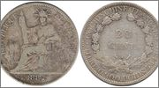 COCHINCHINA FRANCESA 20 Centimes 1884 Cochinchina_Francesa_20_Centimes_1884