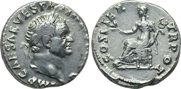 Denario de Vespasiano. COS ITER TR POT. Roma. 70 d. C. Denario_vespasiano1