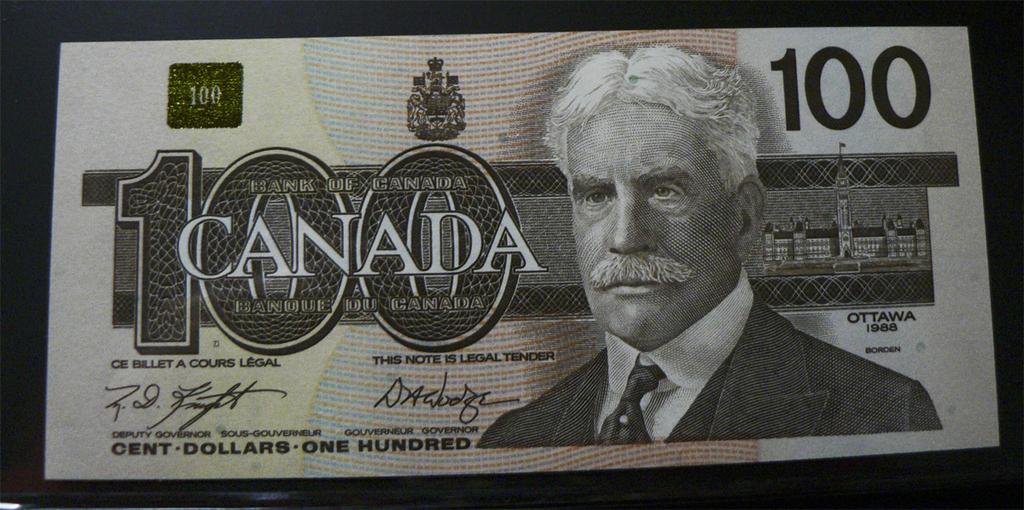 100 Dólares Canada, 1988. Cnd99d
