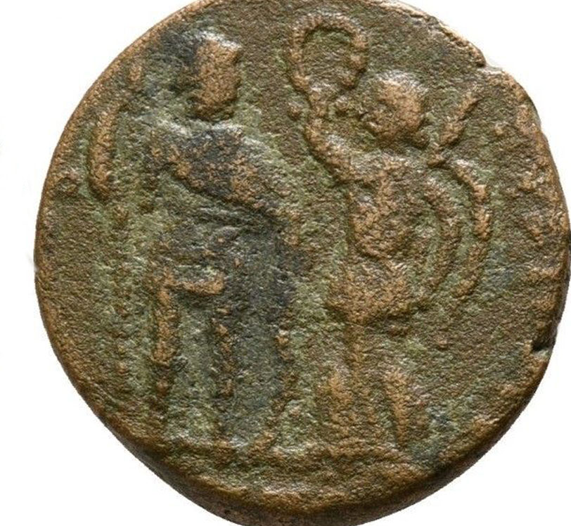 AE3 de Arcadio. VIRTVS EXERCITI Romana_tardia