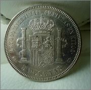 5 Ptas.1871 *74, AMADEO I  Image