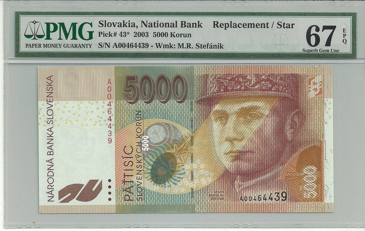 Billetes de reemplazo, no españoles - Página 2 Eslovaquia1