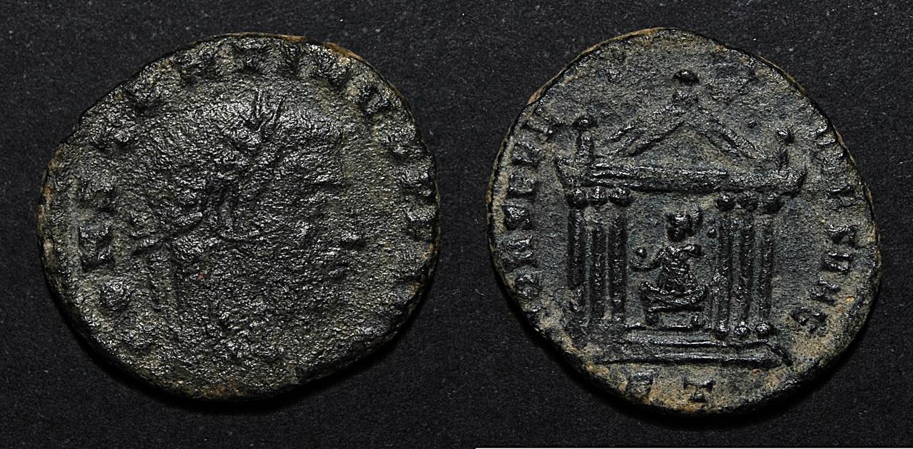 Nummus de Constantino I como augusto Constan_i_vrb