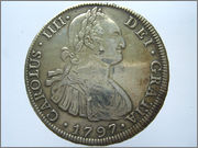 8 Reales Carlos IV 1797 Potosi 57_16