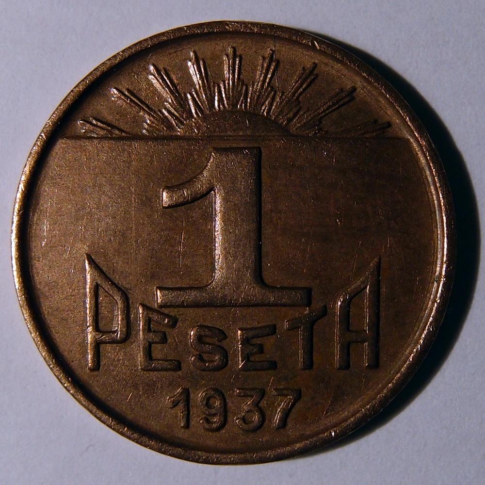 1 PESETA, 1937, GUERNICA, CONSEJO DE ASTURIAS Y LEÓN (GUERRA CIVIL) A_PB110607