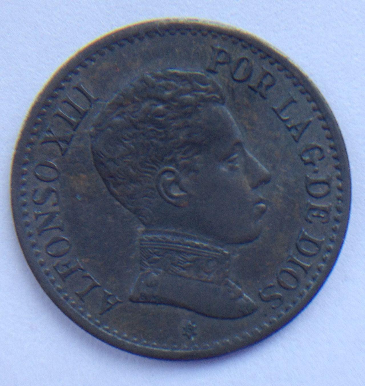 1 céntimo 1906 SL V Alfonso XIII Triskel dedit Image
