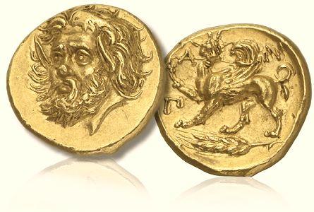 Algunas monedas hermosas Pantikapaion