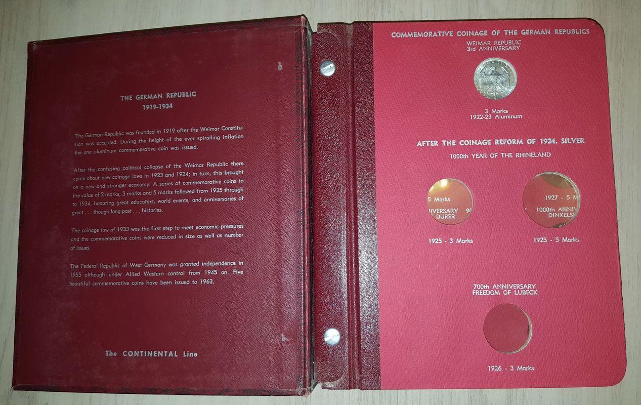 Monedas Conmemorativas de la Republica de Weimar y la Rep. Federal de Alemania 1919-1957 20170406_082145