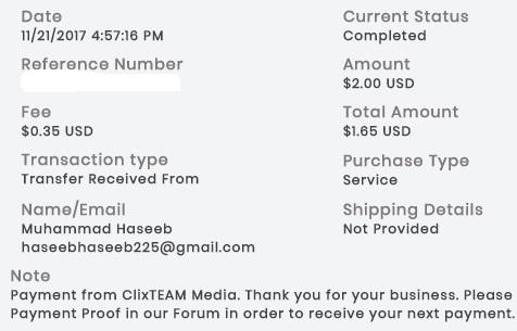 1º Pago de ClixTeam ( $2,00 ) Clixteampayment
