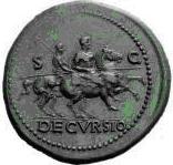 Glosario de monedas romanas. DECURSIO. Image