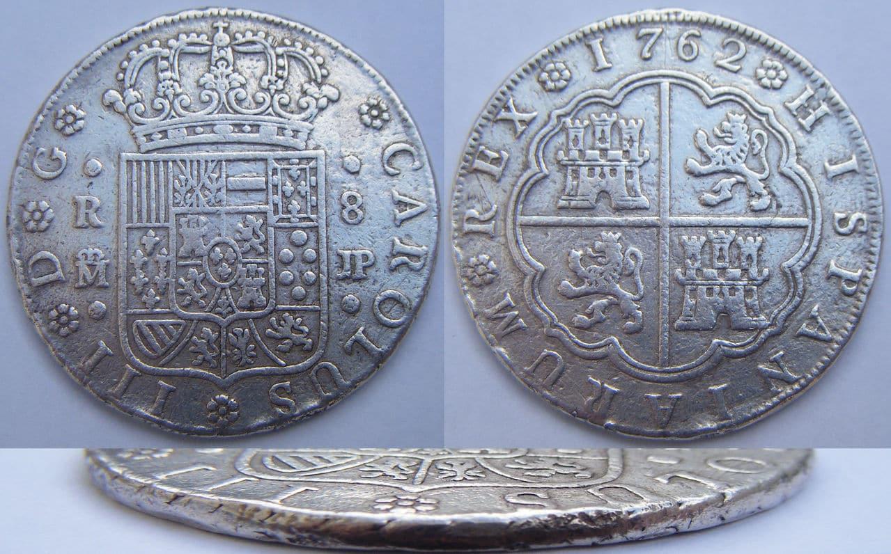 8 REALES CARLOS III 1762 MADRID JP 8_R_Carlos_III_1762_Madrid_JP