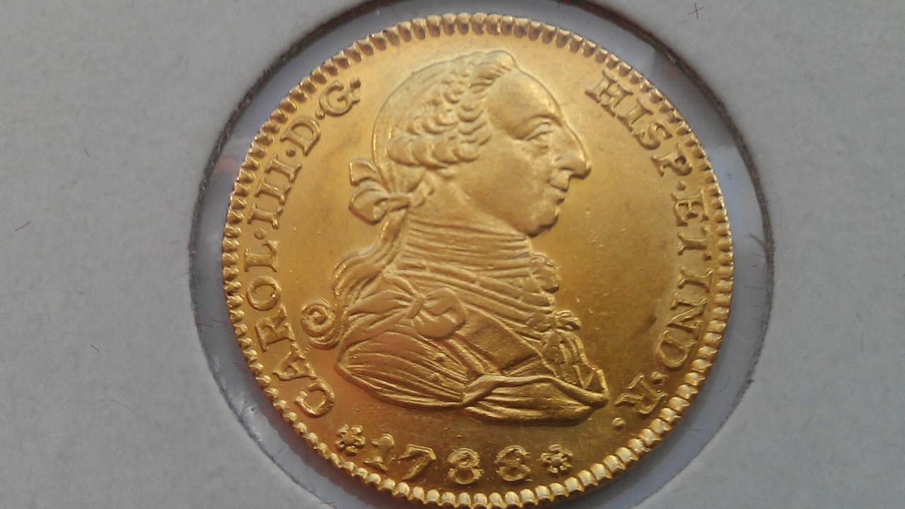 2  escudos 1788/1. Carlos III. Madrid. IMAG0558