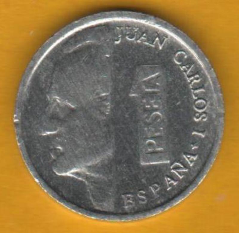 1 Peseta 1996 Juan carlos I- LA PESETILLA o LENTEJA AAA_anverso_1_PESETA