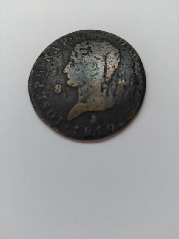 8 maravedís 1810. Jose Napoleón. Segovia Image
