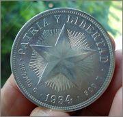 "1 PESO ""ESTRELLA"" 1934 CUBA Image"
