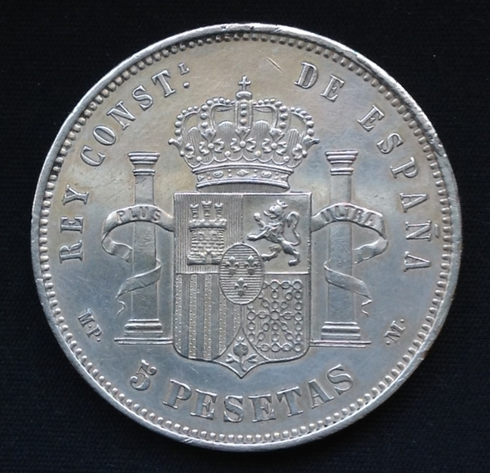 5 pesetas 1888 Alfonso XIII IMG_6271