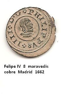 8 maravedís de Felipe IV año 1662 Image