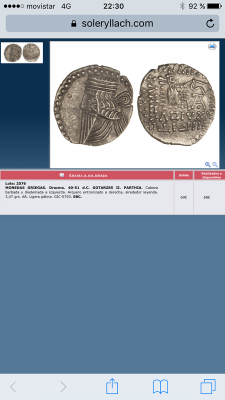 Dracma Parto Vologases III. Ecbatana IMG_2896