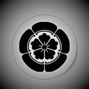 Korikane Clan (Crystal) Japanese_family_crest_kamon_symbol_classic_round_sticker-r2ba3d0