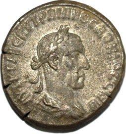 Tetradracma de Trajano Decio. Antioquía 225