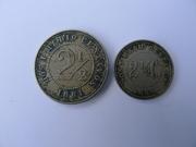 2 y medio centavos, Estados Unidos de Colombia, 1881 P1170908