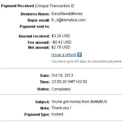 2º Pago de Bemybux ( $3,20 ) Bemybuxpayment