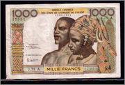 1000 Francos de Costa de Marfil sin fecha (1959/1965) 171