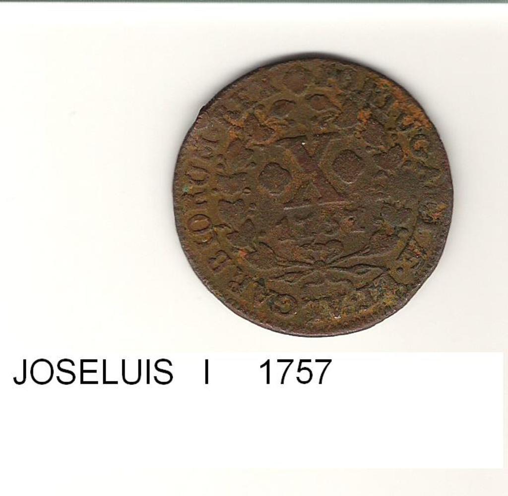 10 reis de Portugal año 1757 Image